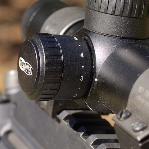 Meopta MeoTac 1-4x22 RD tactical scope adjustable reticle illumination