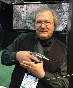 Grant Cunningham holding Kimber K6s revolver