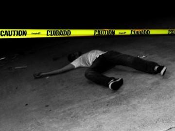 Staged photo of crime scene
