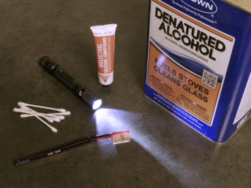 flashlight maintenance supplies